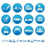 Automobiel pictogrammen royalty-vrije illustratie