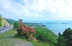 Automobiele bergweg langs de kust van de Zwarte Zee Royalty-vrije Stock Afbeelding