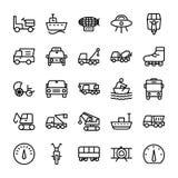 Automobiele Lijn Vectorpictogrammen 3 Royalty-vrije Stock Afbeeldingen
