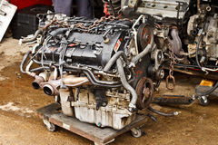 Automobiele Motor Stock Foto's