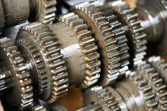 Automobiele motor of transmissieversnellingsbak Stock Afbeeldingen