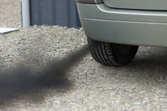 Automobiele verontreiniging Stock Foto's