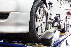 Automobiele wielgroepering Stock Foto