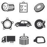Automobielpictogrammen Stock Foto