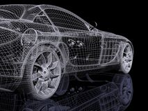 Automobil 3d vektor abbildung