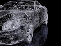 Automobil 3d Lizenzfreie Stockfotos