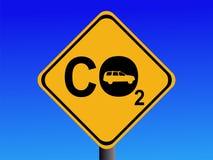 Automobil CO2-Emissionen Stockbild