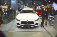 Automobil-Salon-Maseratis Chibli S Q4 Moskaus internationaler Wunsch Lizenzfreie Stockbilder
