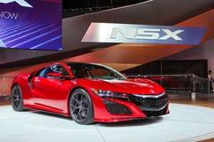 Automobilausstellung 2016 Acuras NSX Detroit Stockfotos