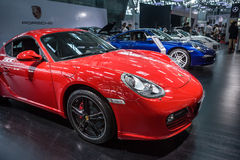 Automobilausstellung, Ferrari-Sportautos Lizenzfreies Stockbild