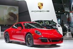 Automobilausstellung 2015 Porsches 911 GTS Detroit Lizenzfreie Stockfotos