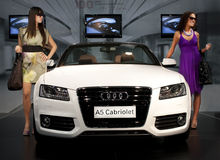 Automobile 2009 giusto, Audi a5 di Belgrado Immagine Stock