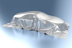Automobile. The automobile covered with a silk fabric Royalty Free Stock Images