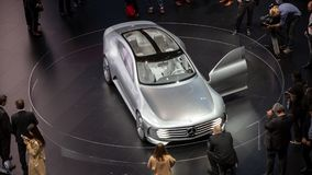 Automobile aérodynamique intelligente c de Mercedes-Benz Concept IAA Images libres de droits
