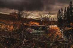 Automobile abbandonata dell'annata Fotografia Stock