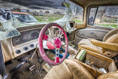 Automobile abbandonata in una città fantasma dell'Utah Fotografie Stock Libere da Diritti