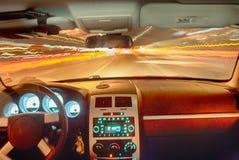 Automobile ad alta velocità nel tunnel Immagini Stock