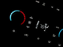 Automobile air conditioner. Controls and thermostat Stock Images