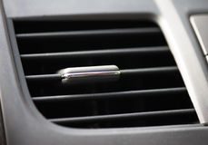 Automobile air conditioner. Closeup photo Royalty Free Stock Photo
