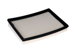 The automobile air filter. On a white background Stock Images