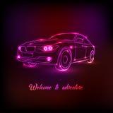 Automobile al neon Immagine Stock