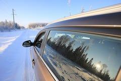 Automobile al tramonto Fotografia Stock Libera da Diritti