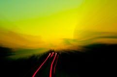 Automobile alla notte Immagini Stock