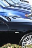 Automobile allineata Fotografia Stock