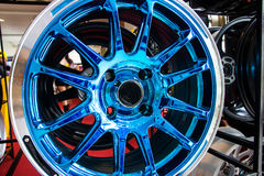 Automobile alloy wheels. Royalty Free Stock Images