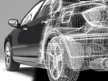 Automobile alta tecnologia Fotografia Stock Libera da Diritti