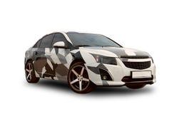 Automobile americana camuffamento Priorità bassa bianca Immagine Stock