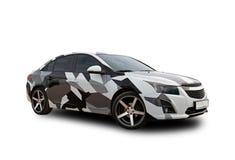 Automobile americana camuffamento Priorità bassa bianca Immagine Stock Libera da Diritti