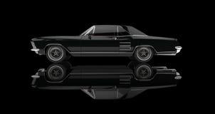 Automobile americana classica su fondo nero Fotografia Stock Libera da Diritti