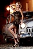 Automobile & bambina Fotografia Stock Libera da Diritti