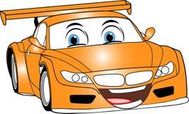Automobile arancione del fumetto fotografia stock