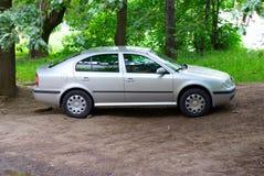 Automobile argentea Fotografia Stock