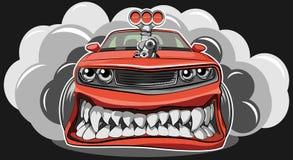 Automobile arrabbiata Immagini Stock