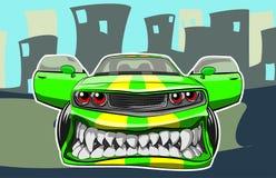 Automobile arrabbiata Fotografia Stock