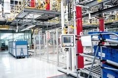 Automobile assembly shop Stock Images