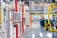 Automobile assembly shop Royalty Free Stock Photo