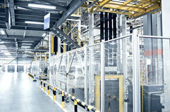 Automobile assembly shop panorama Stock Images