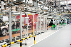 Automobile assembly shop panorama Stock Photography