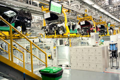 Automobile assembly shop production line Stock Photos
