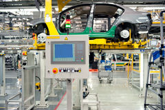 Automobile assembly shop production line Royalty Free Stock Photo