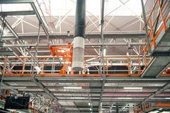 Automobile assembly shop production line Stock Photos