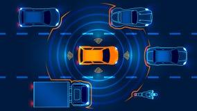 Automobile astuta autonoma illustrazione vettoriale