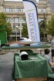 Automobile autoalimentata solare Anversa Fotografia Stock