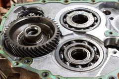 Automobile automatic transmission overhaul. Royalty Free Stock Photos