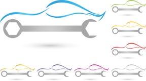Automobile, automobile sportiva, chiave, logo illustrazione di stock
