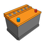 For automobile battery.Car single icon in cartoon style vector symbol stock illustration web. Royalty Free Stock Image